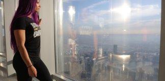 Sasha Banks at the Burj Khalifa