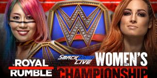 Becky Lynch vs Asuka Royal Rumble title card