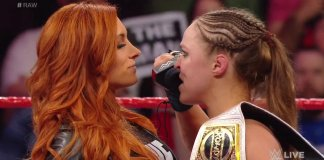 Ronda Rousey Becky Lynch on Raw