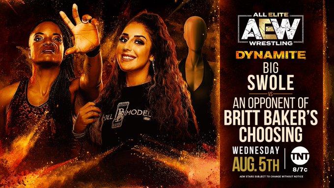 Big Swole returns to AEW tonight to face an opponent of Britt Baker's choosing.