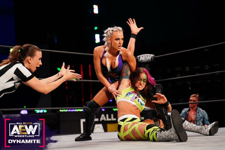 Britt Baker in action next week at Blood & Guts; Statlander picks up a win on this week's Dynamite