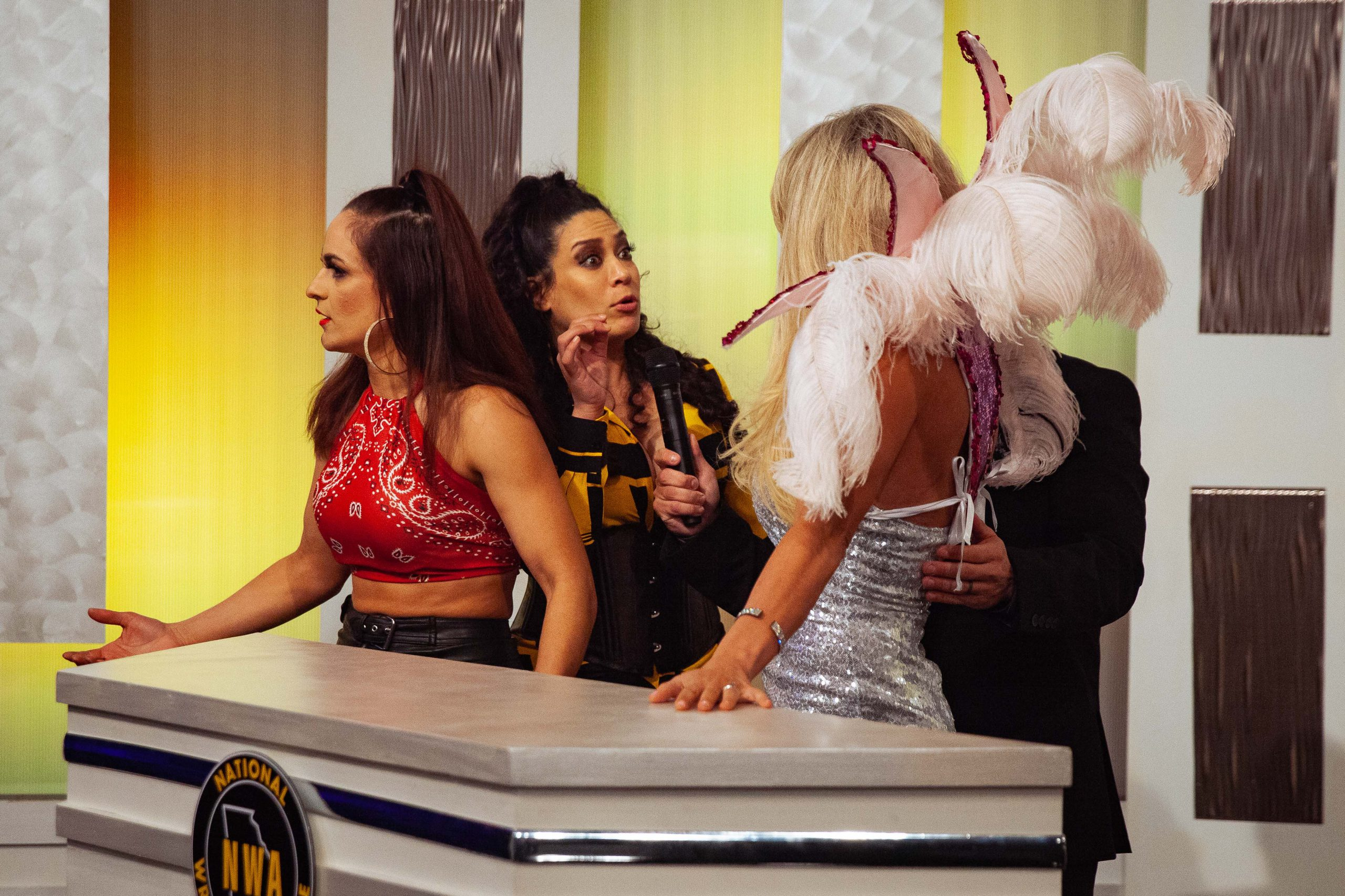 Taryn Terrell and Melina get into a heated scuffle while trying to help Thunder Rosa on NWA Powerrr
