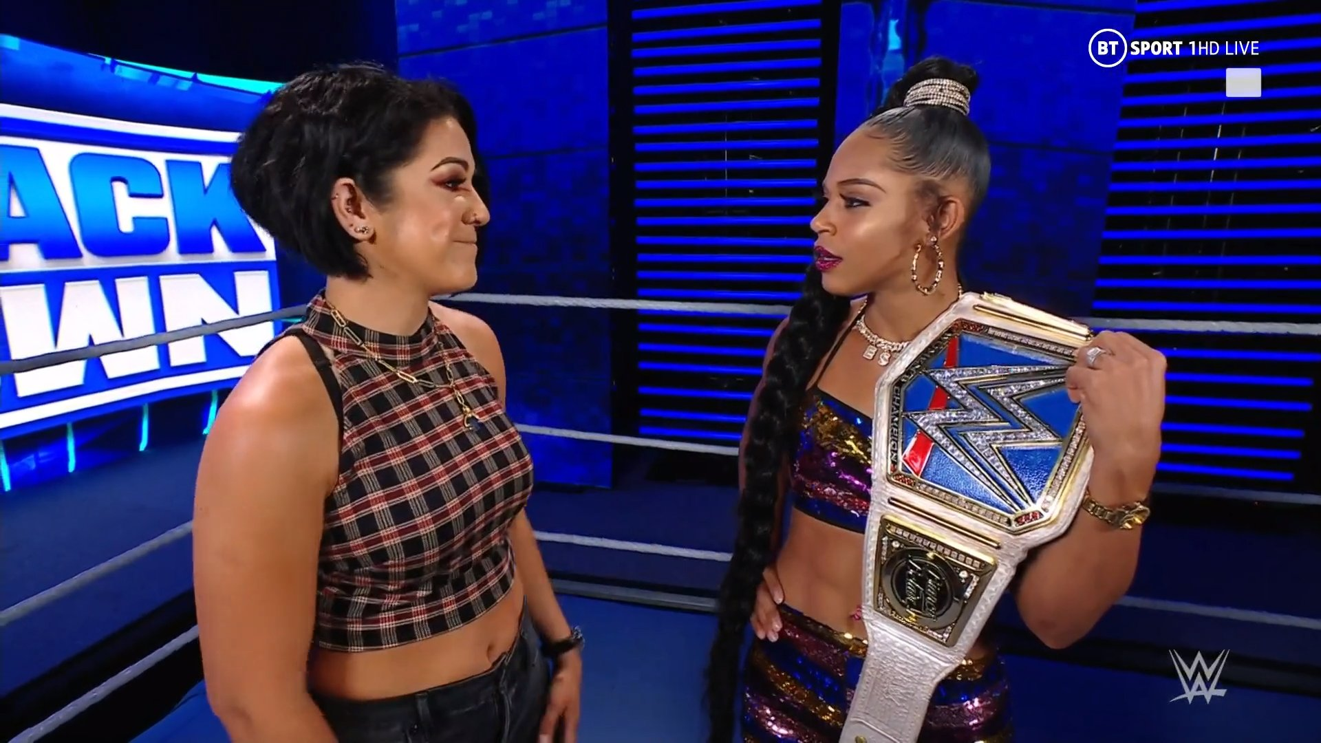 """Bayley says Bianca Belair got """"lucky"""" at WrestleMania and Tamina picks up a win on SmackDown"""