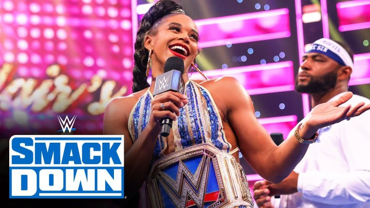 Bianca Belair gives her victory speech on SmackDown which leaves Sasha Banks fuming
