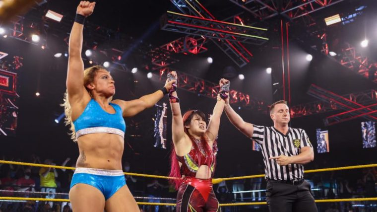 Io Shirai & Zoey Stark win number one contenders match to challenge The Way