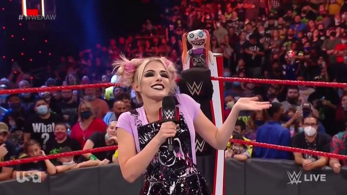 Alexa Bliss introduces Charly to Charlotte Flair on RAW
