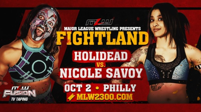 Nicole Savoy vs. Holidead set as first women's match for MLW Fightland