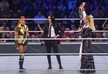 Becky Lynch & Charlotte Flair controversial title exchange