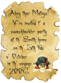 pirate party games and ideas