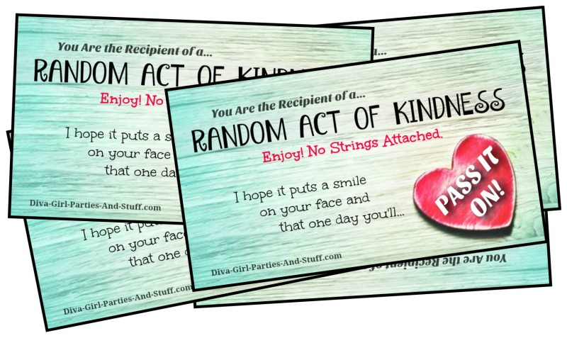Random Acts Of Kindness Ideas And RAK Cards