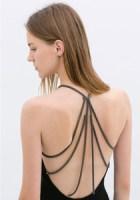 rochie zara cu spatele gol