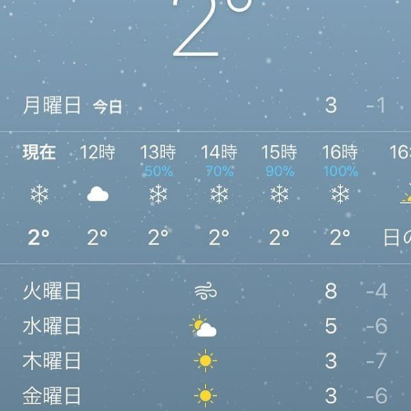 It's snowing in Tokyo!!雪降った〜︎若干テンション️ - from Instagram
