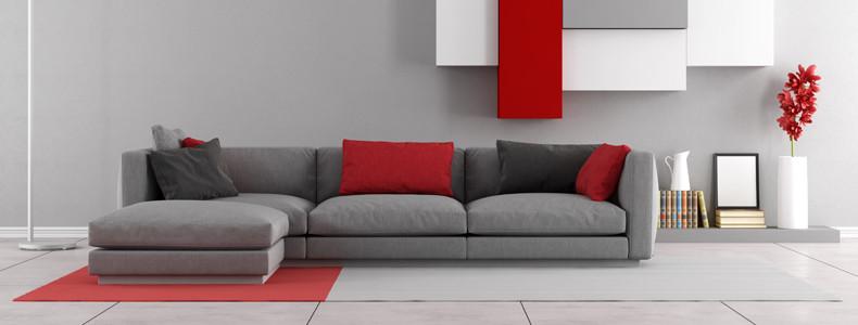 Divano grigio stile e modernit in salotto