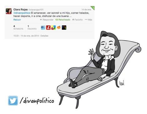 Caricatura Clara Rojas en Diván Político