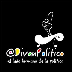 Aplicación logo @DivanPolitico sobre negro