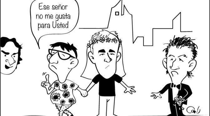 """Caricatura sobre el fin del matrimonio de """"Los Federicos"""""""
