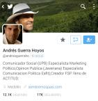 Cuenta de Twitter Andrés Guerra
