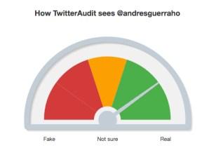 Análisis seguidores Twitter Andrés Guerra