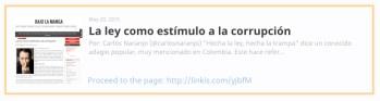 Artículo sobre la ley y la corrupción por Carlos Naranjo