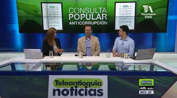 DIVÁN POLÍTICO en el análisis de la Consulta Popular Anticorrupción por Teleantioquia