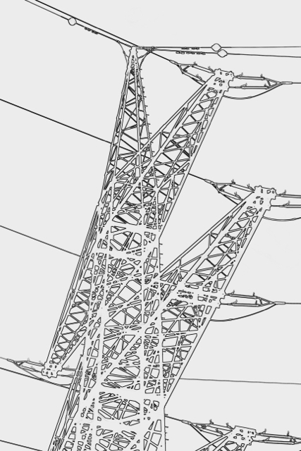 Strommast-Kontur