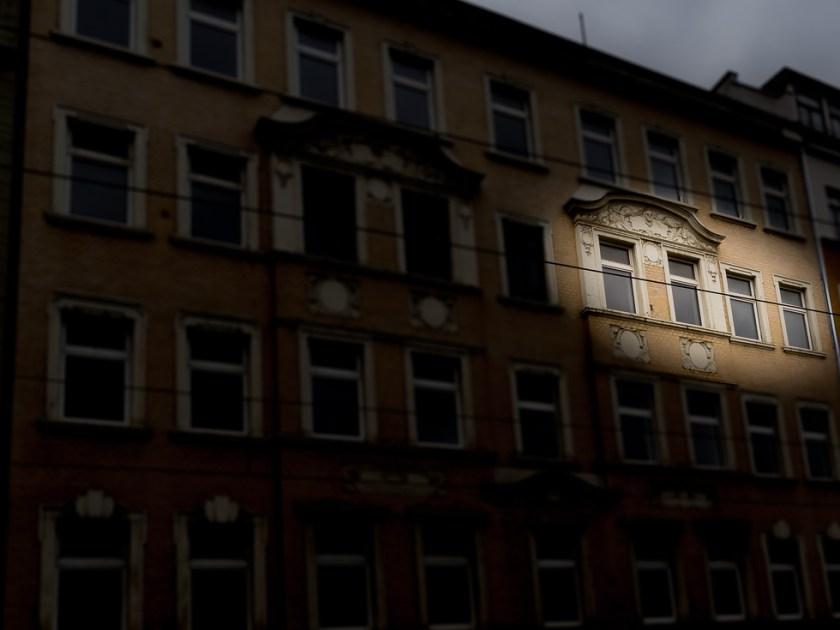 Die Lage der Wohnung in dem Haus in Leipzig