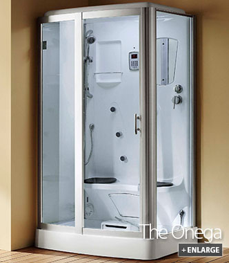 Steam Cabinet  2 Person Steam Shower  The Onega