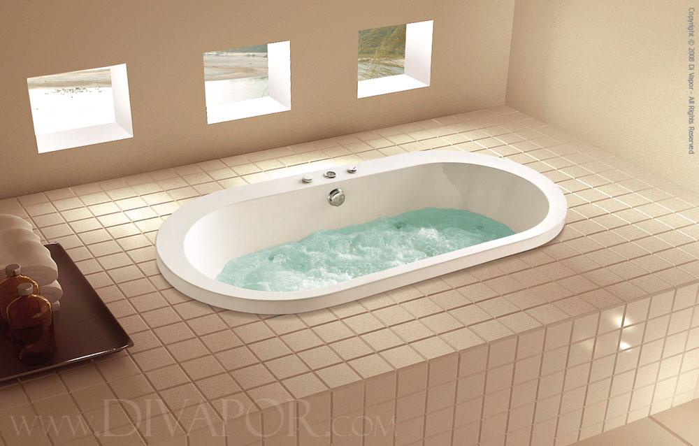 Pesaro Oval Whirlpool Bath