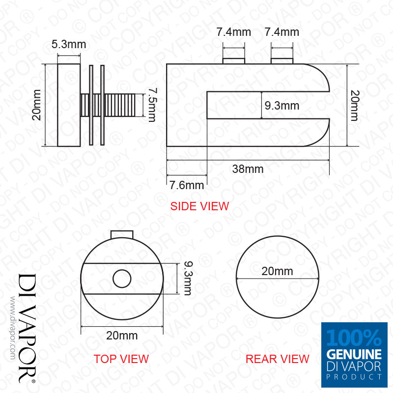 Stainless Steel Glass Clip Bracket for Shower Enclosure