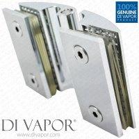 Clam Shell Door Hinge for Heavy Glass Shower Door Glass ...