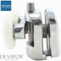Bottom Metal Double Shower Door Roller   6mm to 8mm Glass ...