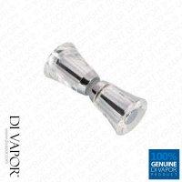 Di Vapor (R) Clear Plastic Shower Door Knob | Crystal ...
