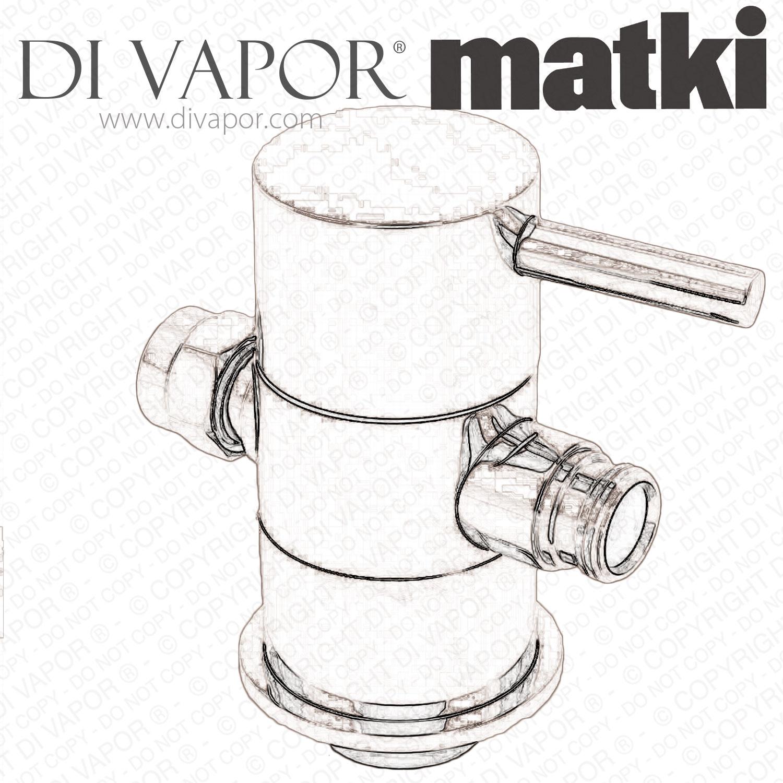 Matki Cs Diverter Shower Diverter Valve