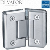 135 Degree Shower Hinge Door Bracket | Light Satin Nickel ...