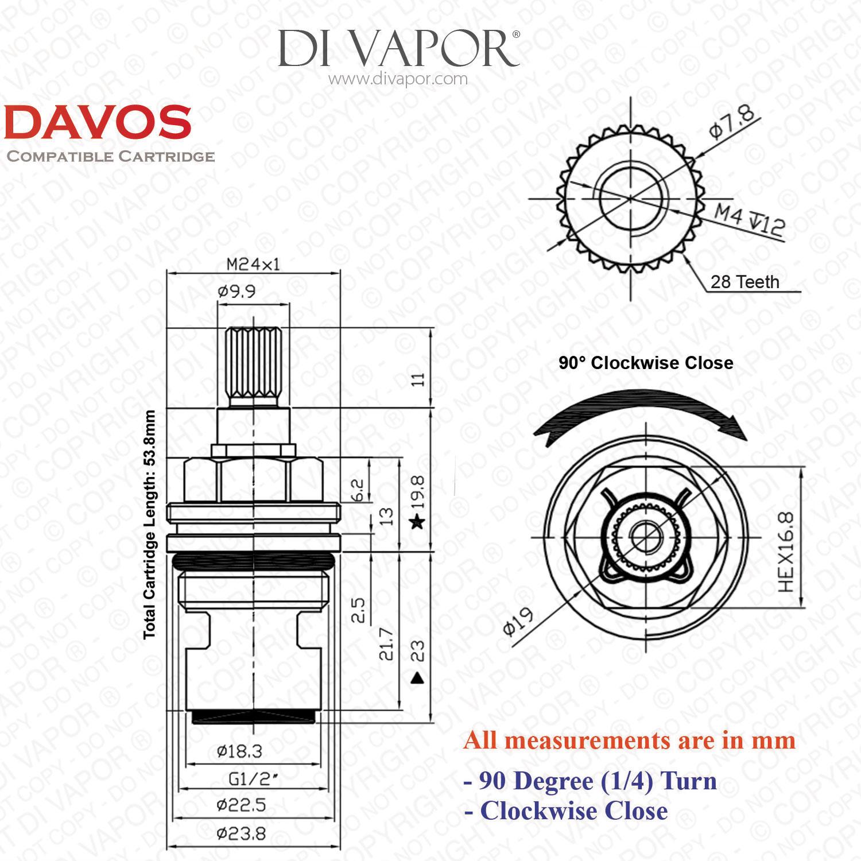 Franke Davos SP3547-C Tap Valve Replacement (133.0358.167