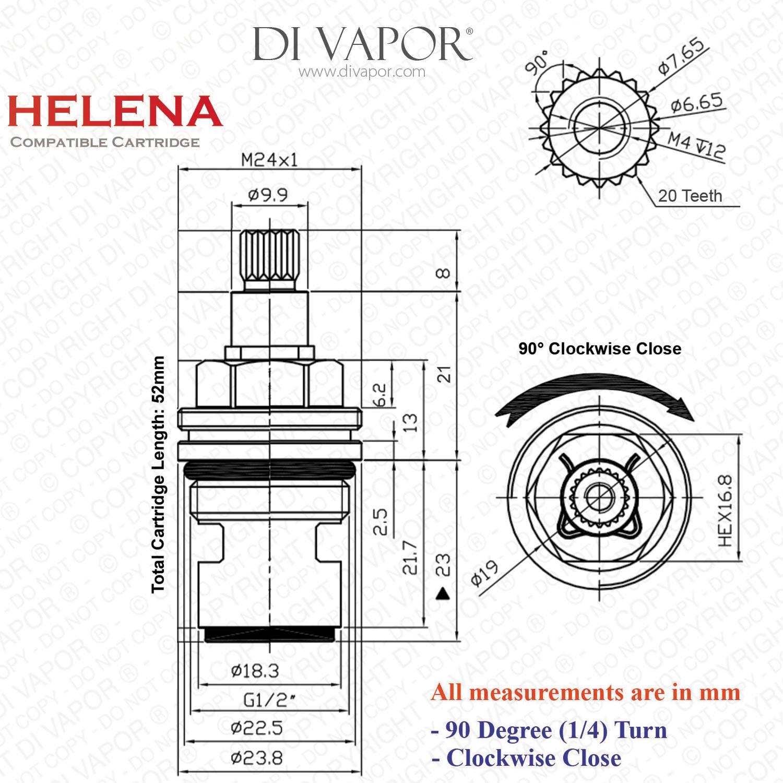 Franke Helena SP3984-C / S1047 / 3038R-C Kitchen Tap Valve