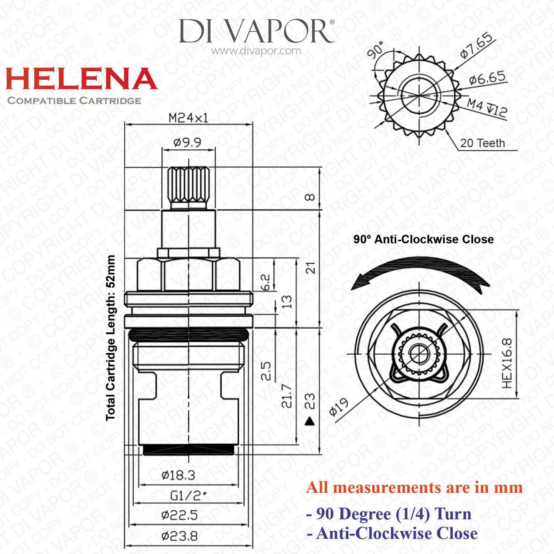 Franke Helena Sp H S R H Kitchen Tap Valve