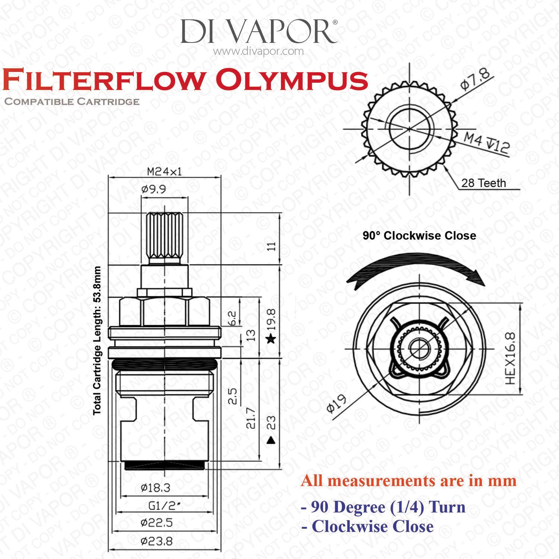 Franke Filterflow Olympus Sp C Cold Valve Cartridge 133 089