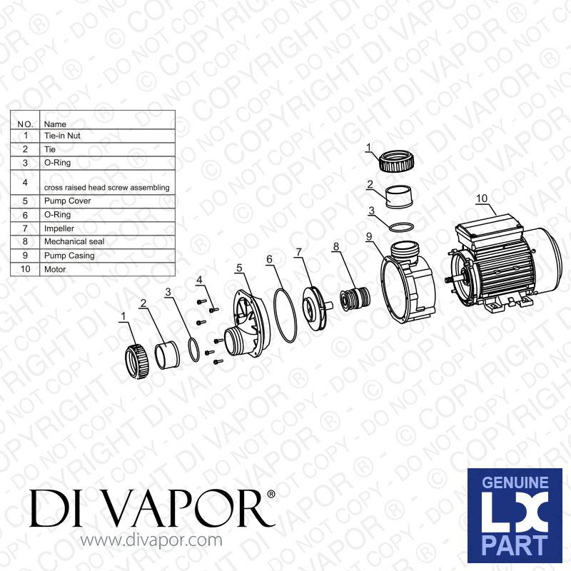 Water Motor Pump Parts Name