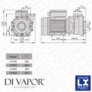 LX LP250 Pump 25 HP | Hot Tub | Spa | Whirlpool Bath