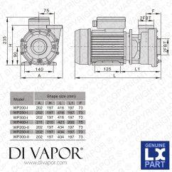 Capacitor Start Motor Wiring Diagram Craftsman 6 Pin Cdi Box Lx Wp400 I Pump 4 Hp Hot Tub Spa Whirlpool Bath Water Circulation 220v 50hz 14 Amps