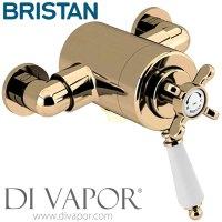 Bristan 1901 Vintage Gold Dual Control Shower Valve ...