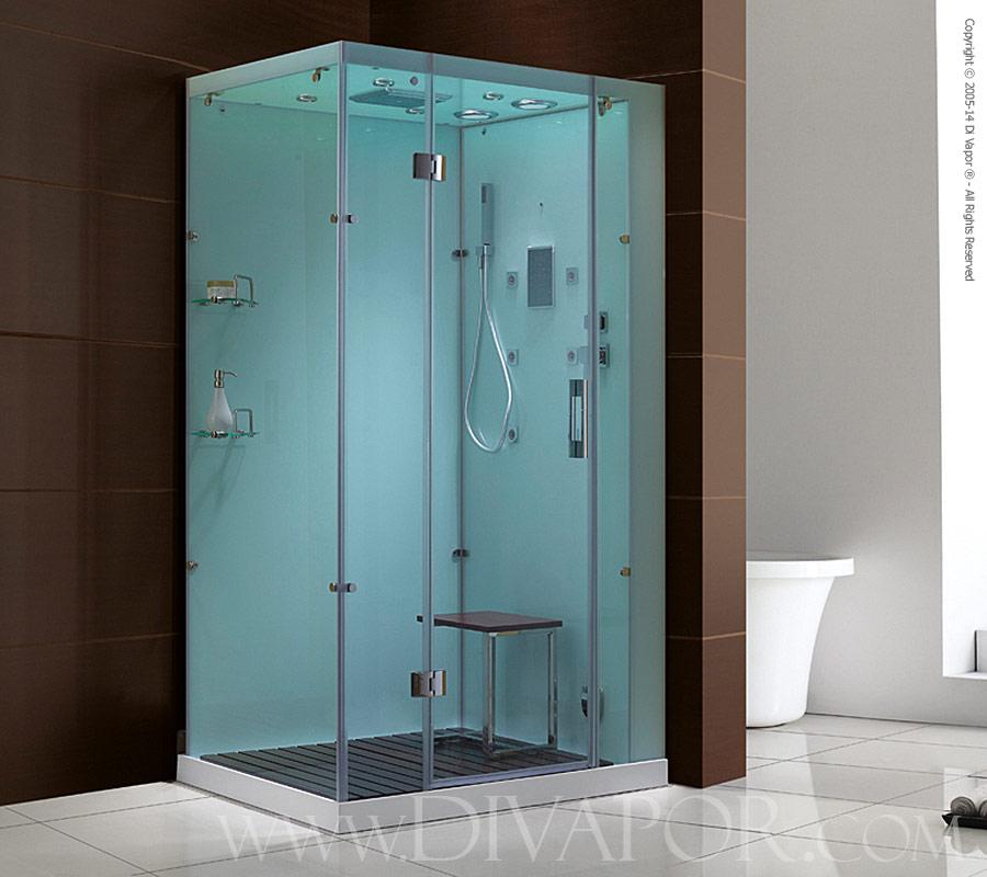 Venice Glass Steam Shower Cabinet white