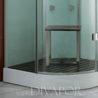 Verona White Glass Steam Shower Enclosure