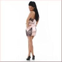 SEXY BANDEAU SATIN SHEATH DRESS, 39,95
