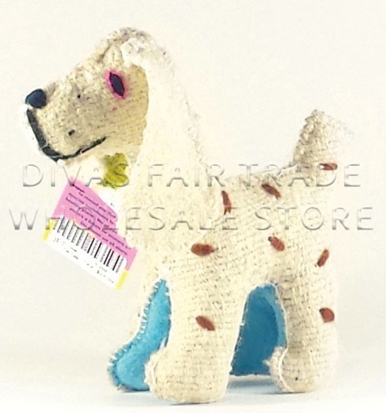 Dog (puppy) 100% Natural Wool Stuffed Toys Woolly Amigos