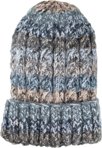 Funky cable style Grey Alpaca Blend winter Hats for the whole family