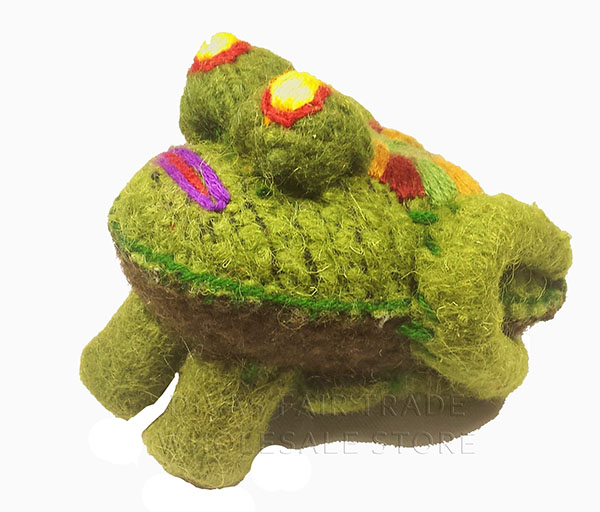Frog 100% Natural Wool Stuffed Toys Woolly Amigos