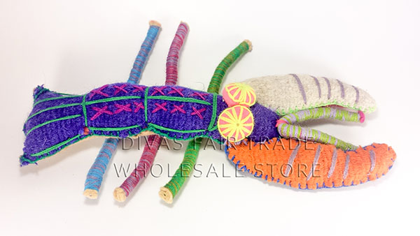 Lobster 100% Natural Wool Stuffed Toys Woolly Amigos