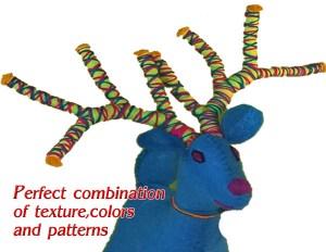 Deer 100% Natural Wool Stuffed Toys Woolly Amigos